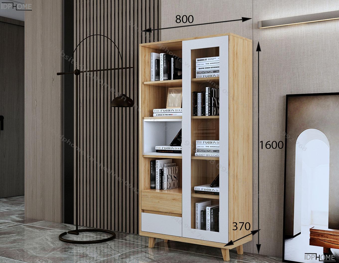 Kích thước Tủ đựng sách nhỏ cho bé TS6817