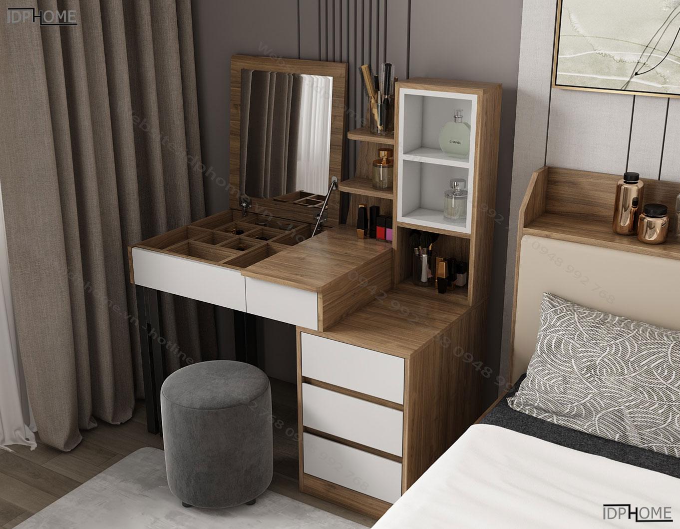 Mẫu bàn trang điểm gỗ đẹp BP6818
