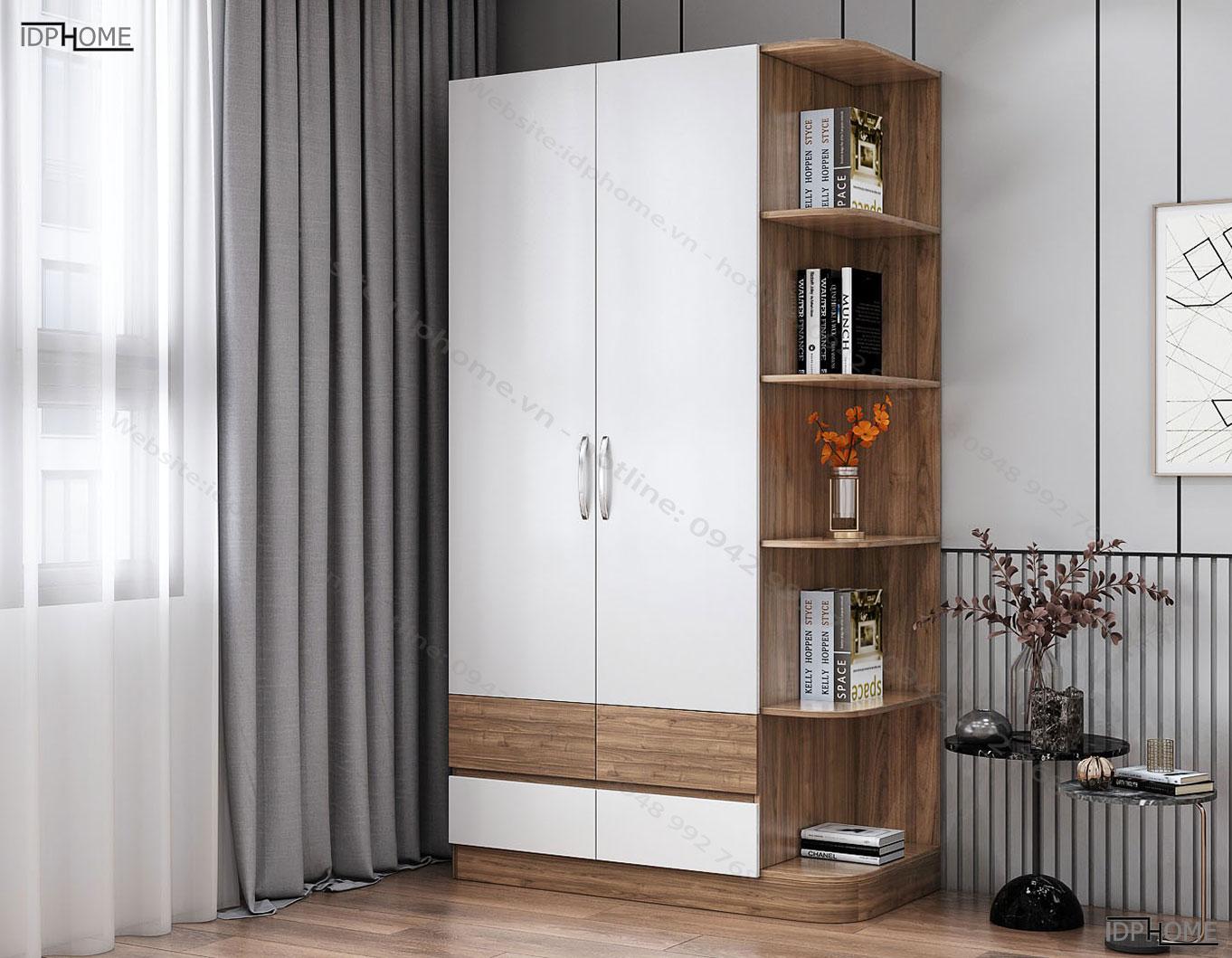 Tủ áo kết hợp giá trang trí TA6803