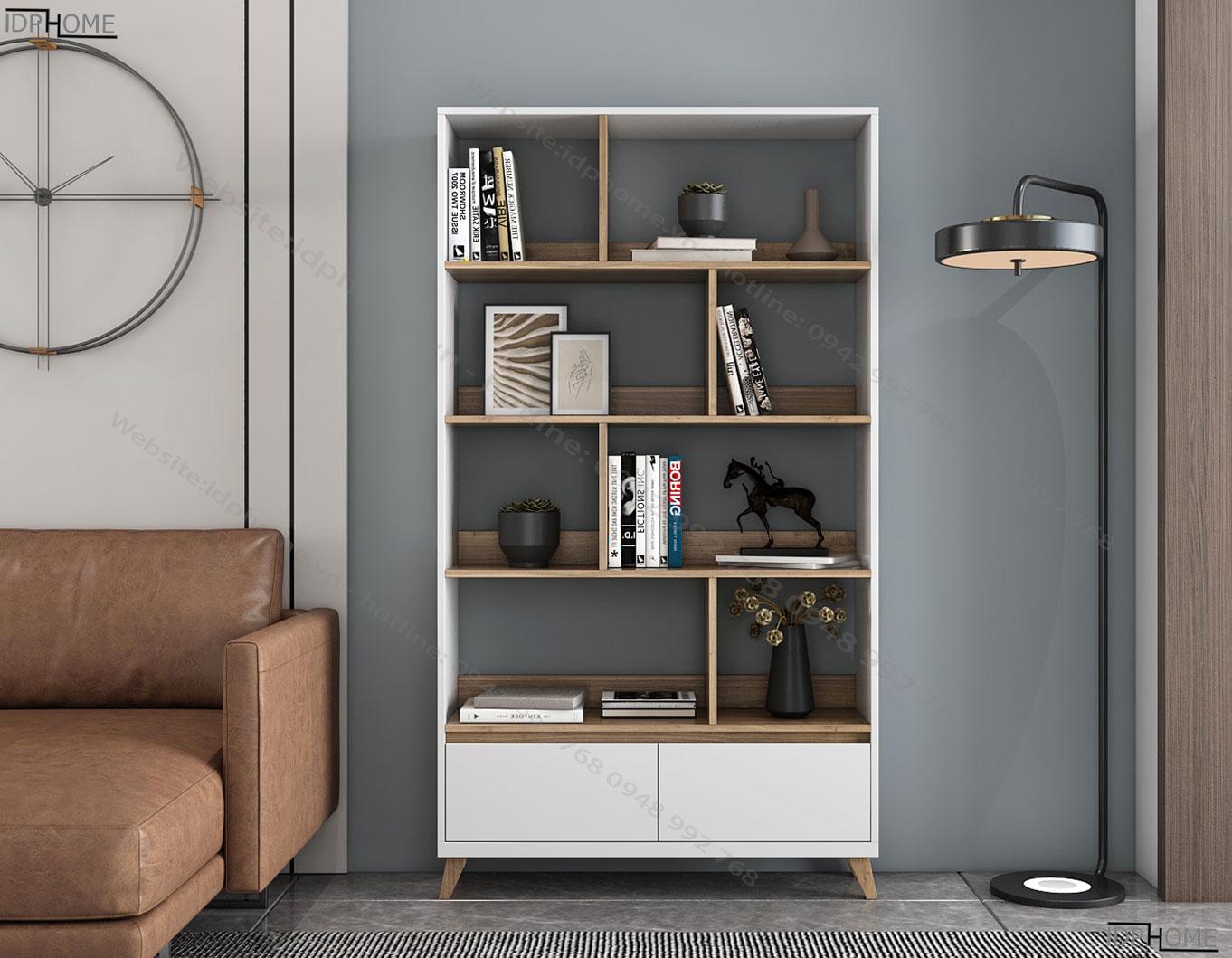 Tủ sách bằng gỗ công nghiệp TS6812