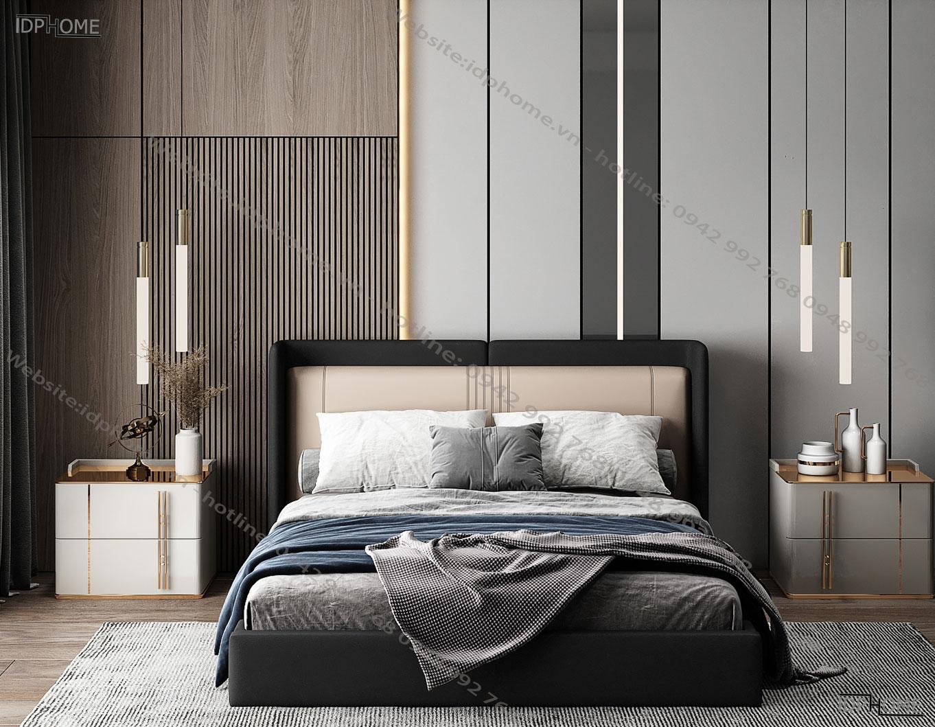 Giường ngủ bọc da tinh tế GD6820