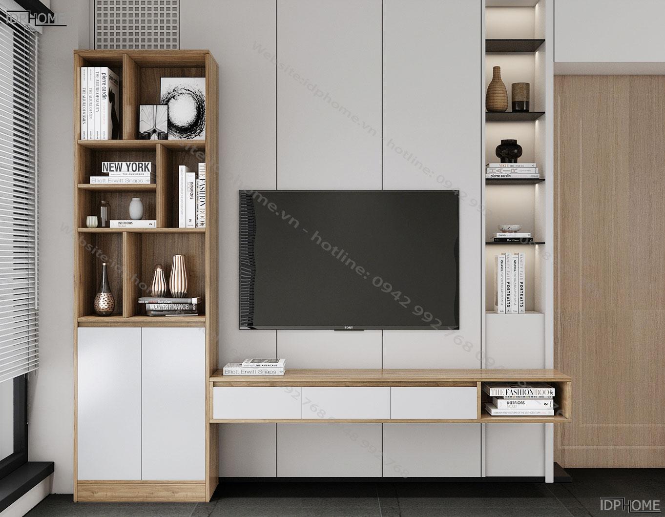 Kệ tivi treo tường cho phòng khách KT6814
